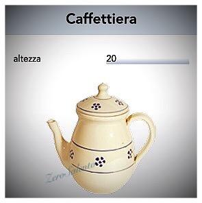Caffettiera e Teiera in Terracotta - Ceramica decoro Stelle Salento