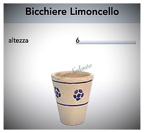 Bicchiere Limoncello in Terracotta - Ceramica decoro Stella del Salento