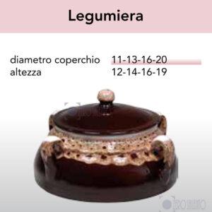 Legumiera in Terracotta Ceramica serie Merletto by Zerosalento