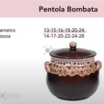 Pentola Bombata in Terracotta Ceramica serie Merletto by Zerosalento