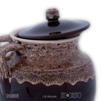 Pignata-con-due-asole-decoro-merletto-Ceramica-a-fuoco