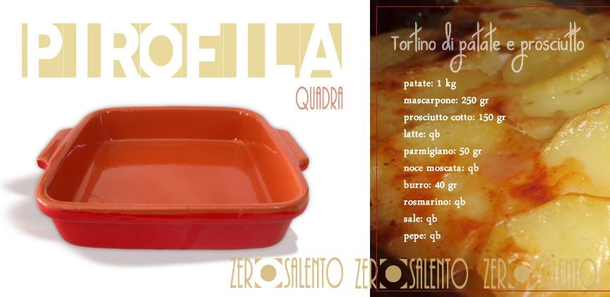 Tortino-di-patate-prosciutto-in-pirofila-terracotta-quadrata