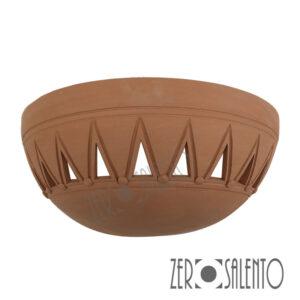 Applique in terracotta mezzaluna intagliata a mano colore naturale TERIL40 -by ZeroSalento