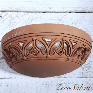 Applique in terracotta mezzaluna intagliata a mano colore naturale TERIL42 - by ZeroSalento