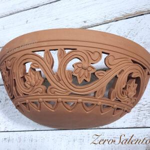 Applique in terracotta stile Barocco intagliata a mano colore naturale TERIL39