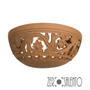 Applique in terracotta stile Barocco intagliata a mano colore naturale TERIL39 -by ZeroSalento
