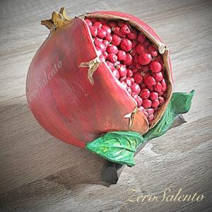 Melagrana in Terracotta dipinta a mano - il frutto dell'autunno prodotto artigianale