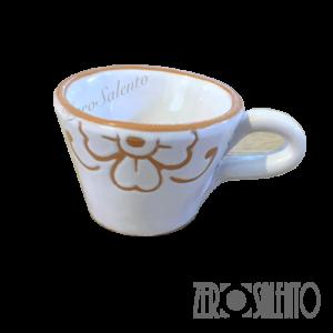 Tazza caffè con decoro graffiato a incisione - by ZeroSalento