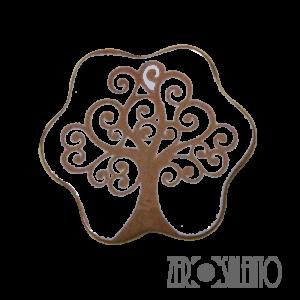 Sottopentola Fiore con Albero della Vita a incisione by ZeroSalento