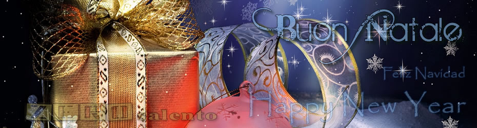 Banner Natale Felice Anno Nuovo Cerchi Regali di Natale economici su zero salento