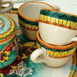 Tazzina da Caffe colorata in terracotta Set da 6 pezzi SALENTO quasi Gratis