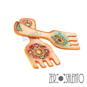 Terracotta Poggia Mestolo Forchetta colorato