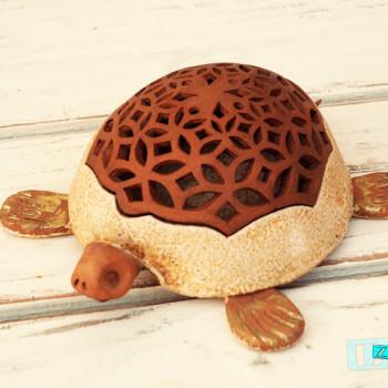 Terracotta Tartaruga Portaoggetti