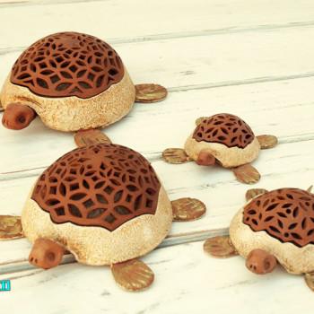 Terracotta Tartaruga Portaoggetti dimensioni