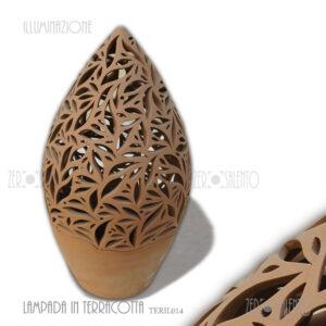 Lampada-terracotta-pigna-due-pezzi-traforata-TER024