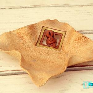 Terracotta Svuotatasche a fazzoletto