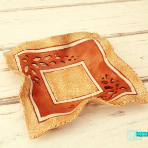 Terracotta Svuotatasche a fazzoletto con cornice