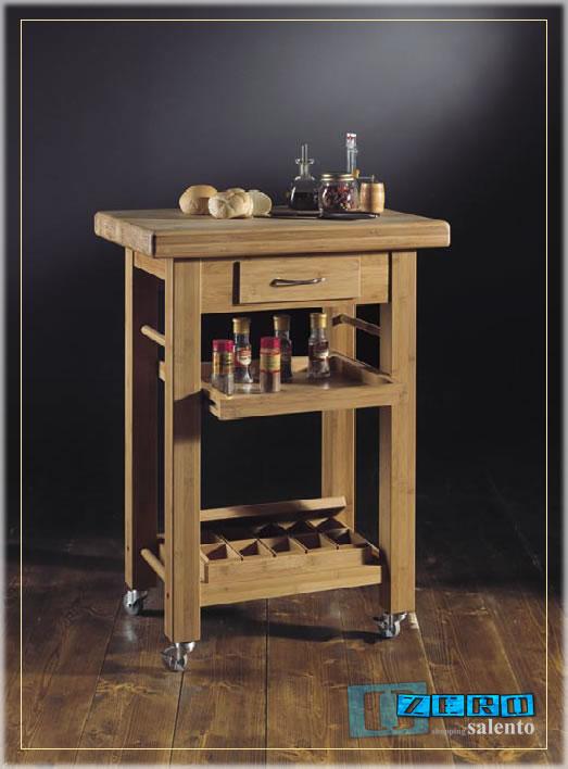 Tavolino da cucina carrello multiuso - Tavolo lavoro cucina ...