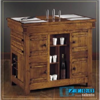 Mob002 Mobili - Tavolo lavoro da Cucina con marmi e cassetti