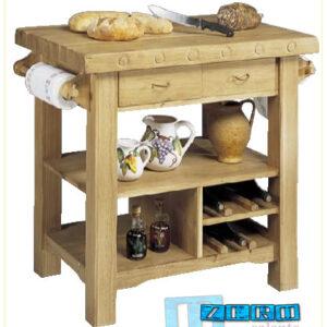 Mob004 Mobili -  Tavolino rovere rustico da cucina