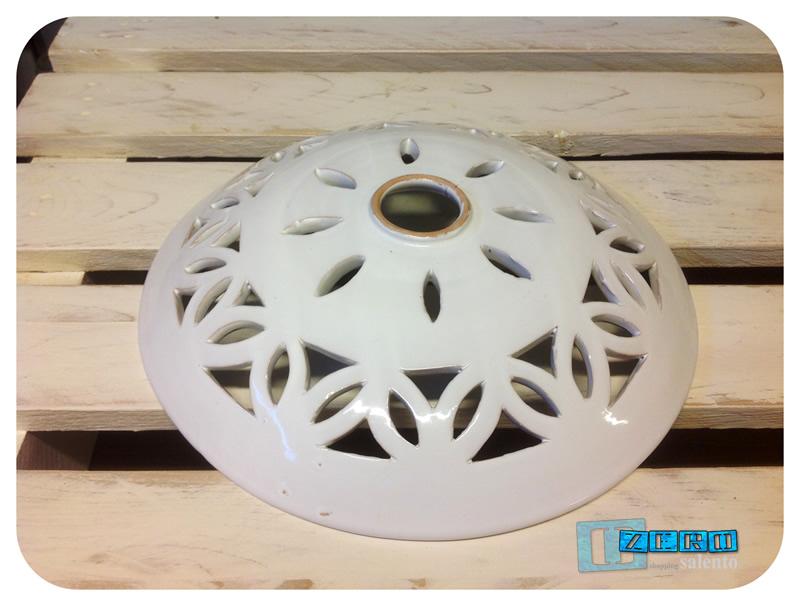 Piatto luce per lampada a soffitto in terracotta diametro cm