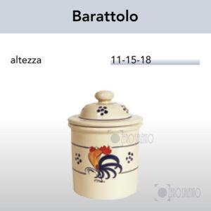 Barattolo Zucchero Caffè Thè e Spezie in Terracotta con Galletto Salentino