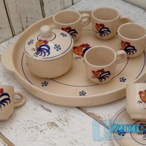 Tazzine da Caffe  in set da 6 con guantiera zuccheriera e piattini Colori e Tradizioni di Puglia