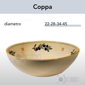 Coppa coppe coppette con Ramo Olive Salentino by Zerosalento