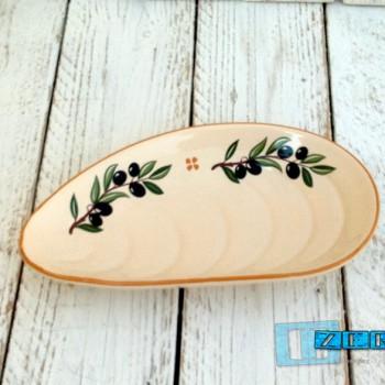 Antipastiera a Cozza in Terracotta Salentina smalto olive