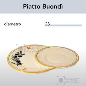 Piatto Colazione Buondì con Ramo Olive Salentino by Zerosalento