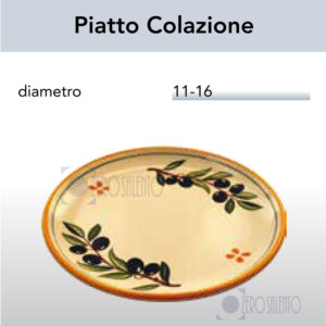Piatto Colazione con Ramo Olive Salentino by Zerosalento