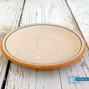 Piatto Colazione in Terracotta Salento smalto olive TERCOOL050