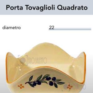 Porta Tovaglioli Quadrato con Ramo Olive Salentino by Zerosalento