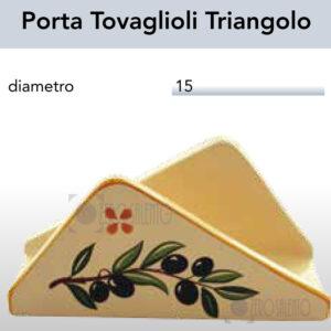Porta Tovaglioli Triangolo con Ramo Olive Salentino by Zerosalento