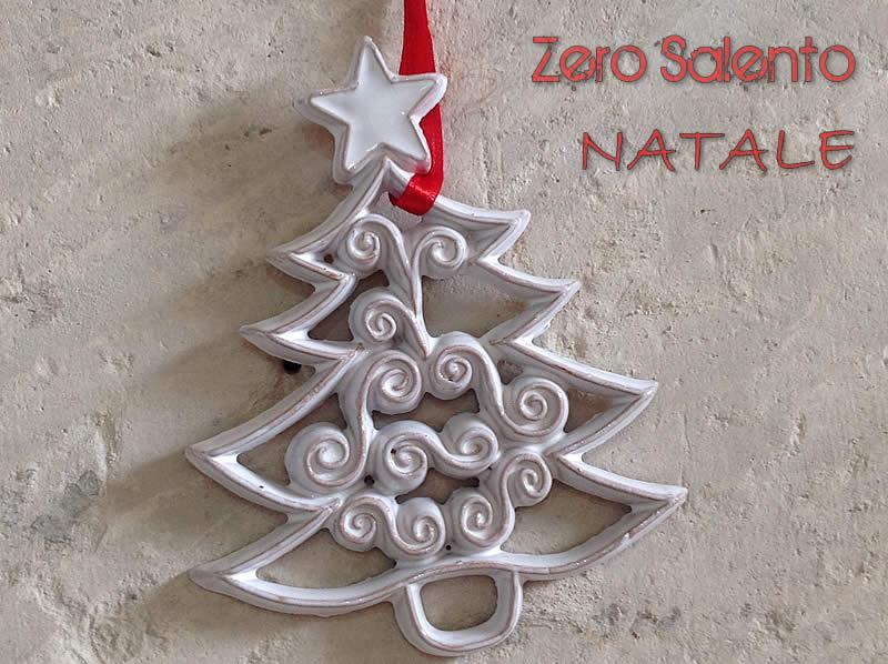 Natale addobbi per albero di natale in terracotta smalto bianco
