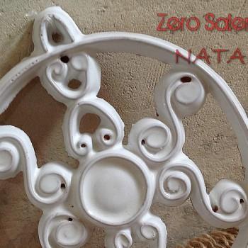 Ceramica Smalto Bianco Fiocco di Neve particolare a Natale
