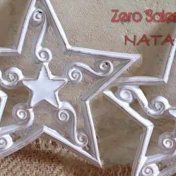 Ceramica Smalto Bianco una Stella  illumina il Natale