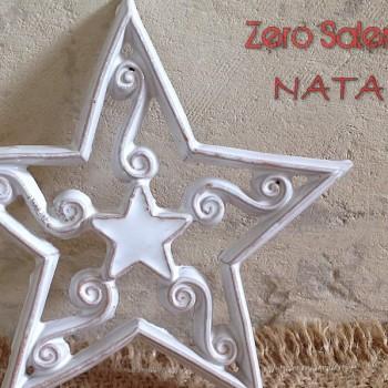 Ceramica Smalto Bianco una Stella  per sognare il Bianco Natale