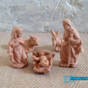 Natività Presepe in Terracotta Salentina - Sacra Famiglia - modello NATIV-F10