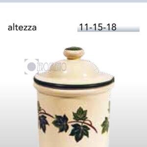 Barattolo in Terracotta Salento con Edera