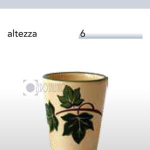 Bicchiere Limoncello in Terracotta Ceramica con decoro Edera Salento