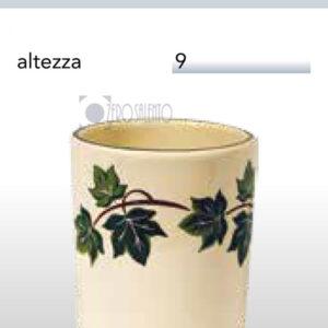 Bicchiere a Cilindro senza manico Edera