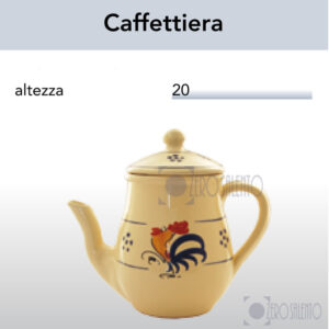 Caffettiera in Terracotta con Galletto Salentino