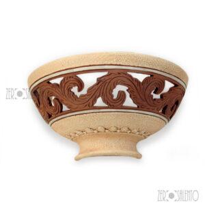 Lampada-Applique-antichizzata-Terracotta-naturale-mezzaluna-a-muro 2