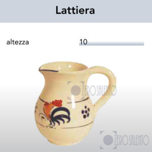 Lattiera in Terracotta con Galletto Salentino by Zerosalento