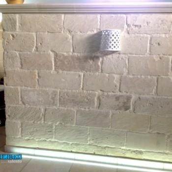 Lampada Applique laccata bianca  in terracotta traforata a rombo...by ZeroSalento