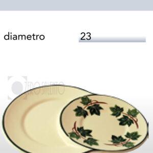 Piatto Buondì in Terracotta Ceramica con decoro Edera Salento