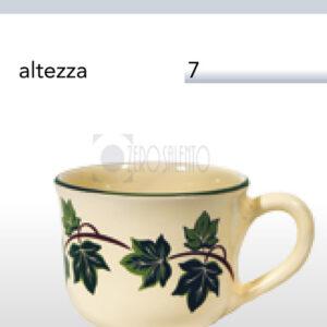 Tazza Thè - Tè in Terracotta Ceramica con decoro Edera Salento