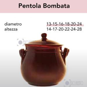 Pentola Bombata serie Pirofile Bruna by ZeroSalento