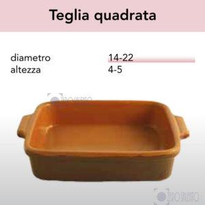 Teglia Quadrata serie Pirofile Bruna by ZeroSalento